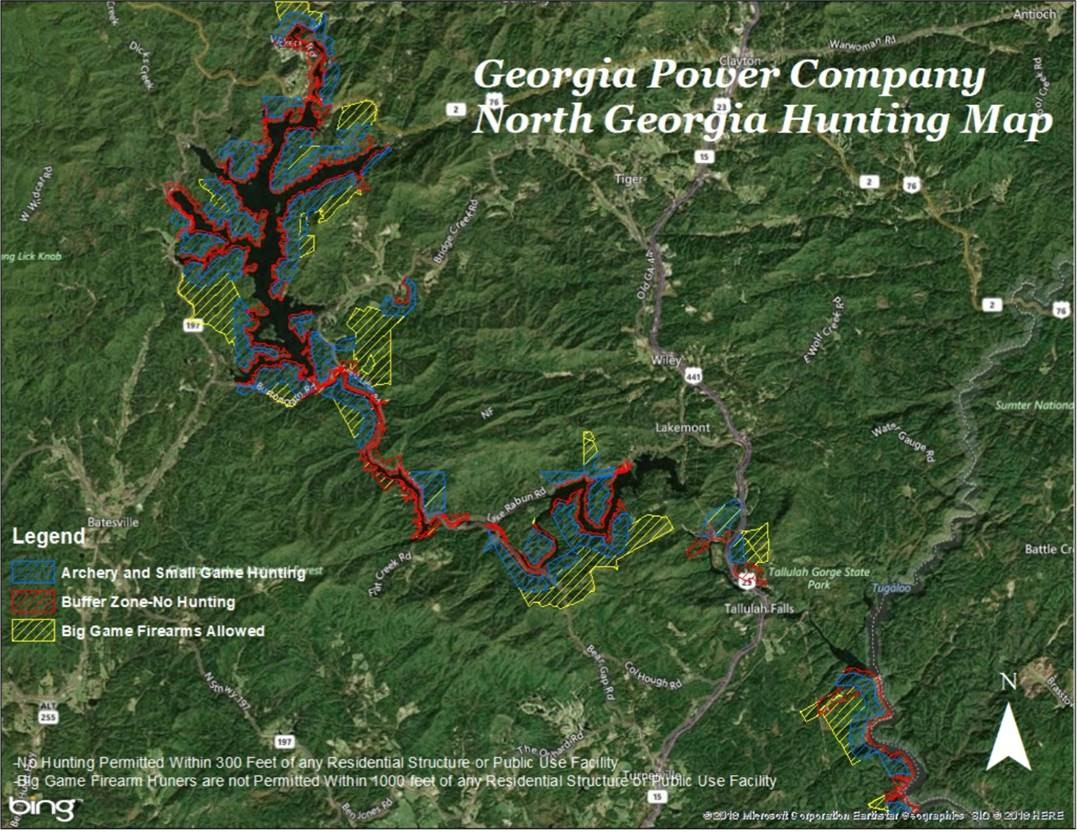 Georgia Power Company North Georgia Hunt Map